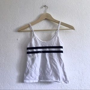 Brandy Melville Marlena white navy stripe tank top